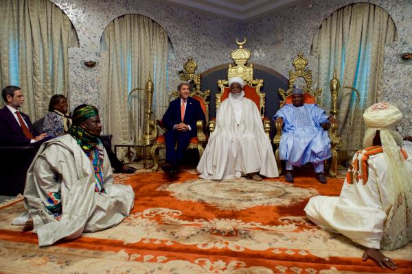 Former US Secretary of State John Kerry Meets With Religious Leaders in Sokoto Nigeria